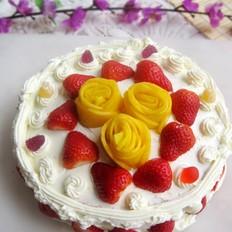 芒果奶油蛋糕