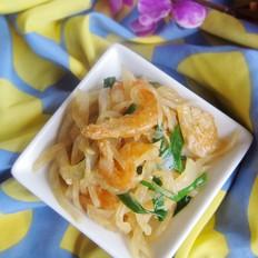 虾米炒白萝卜丝