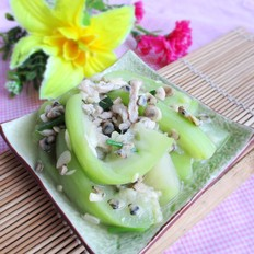 蚬肉炒水瓜