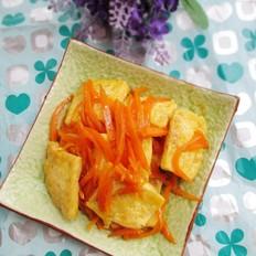 胡萝卜丝煎豆腐