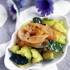 黄瓜凉拌海蜇丝