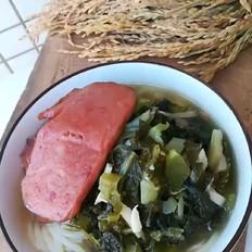 酸菜午餐肉米线