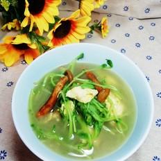虎松茸豆苗汤