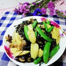 玉米笋炒甜豆