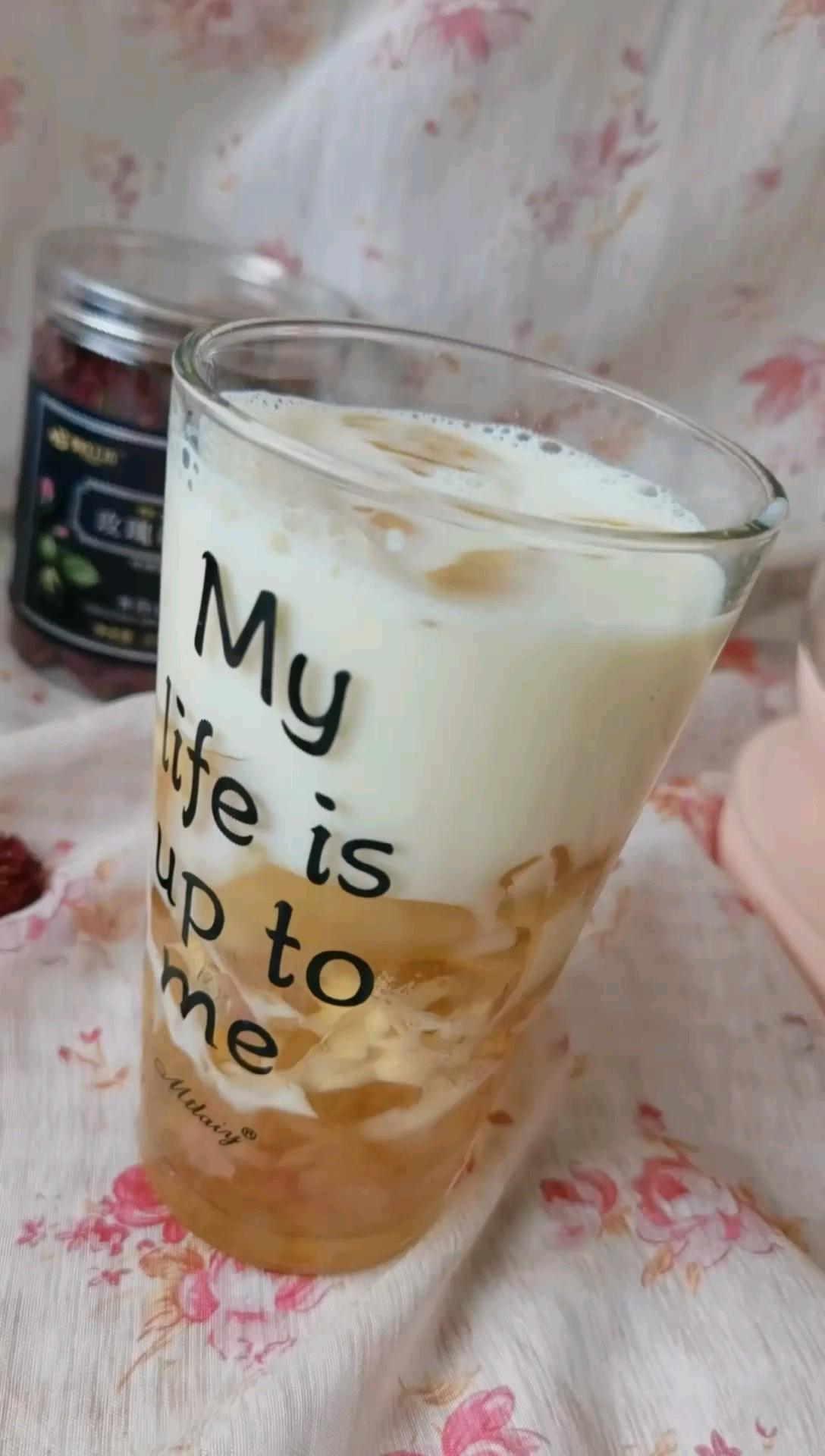 玫瑰茶冻撞奶