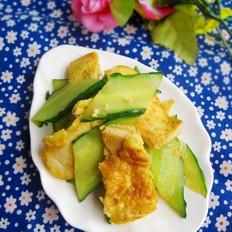 豆腐煎蛋炒黄瓜