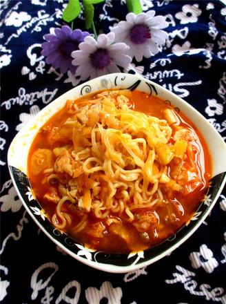 韩式泡菜面的做法