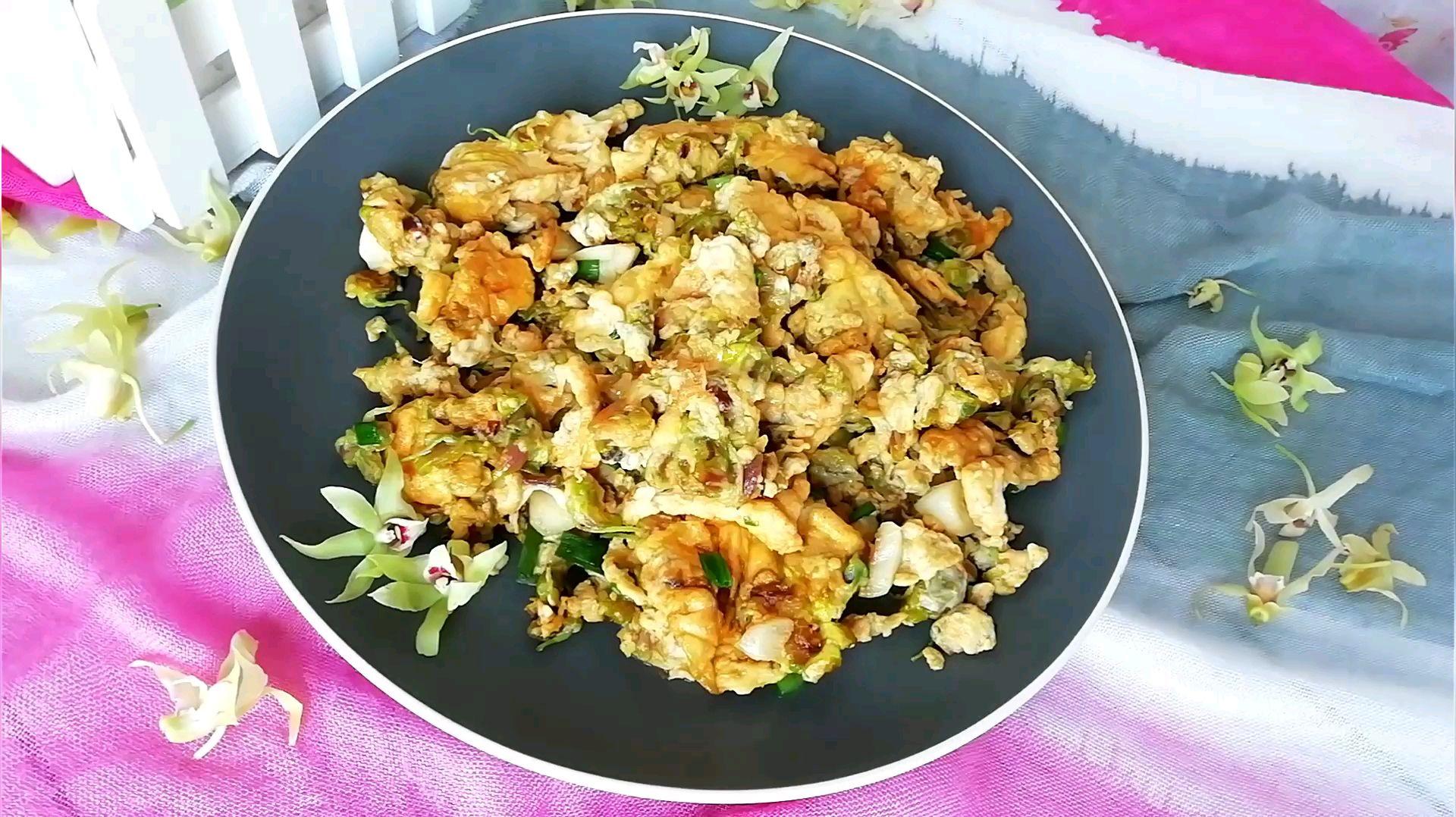 石斛花炒雞蛋的做法