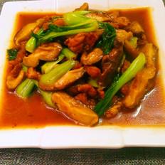 青菜香菇炒肉