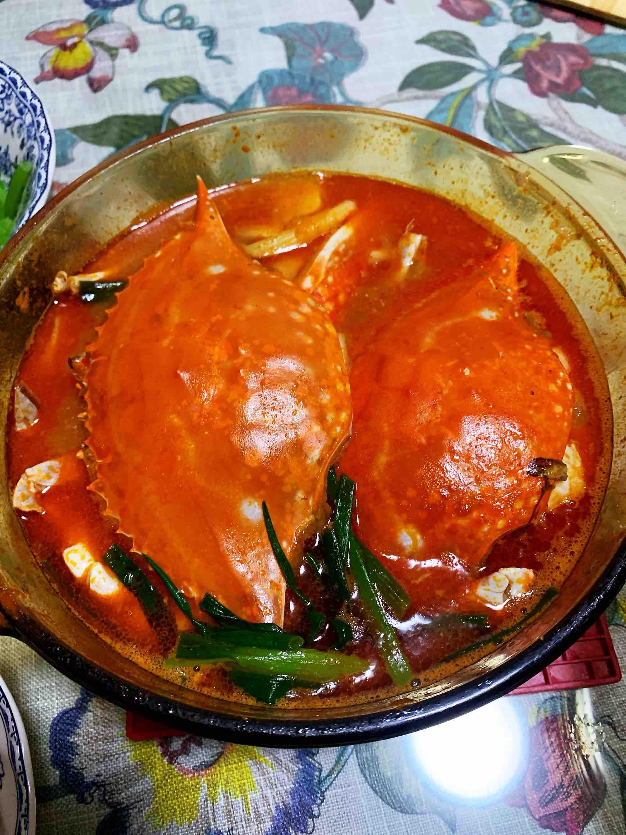 番茄梭子蟹豆腐汤