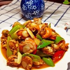 青红椒炒扇贝