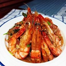 洋葱黑椒虎虾