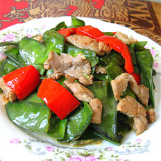 扁豆辣椒炒肉片