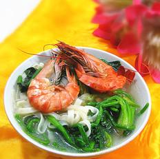 鲜虾菠菜汤面