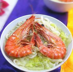 鲜虾牛心菜汤面