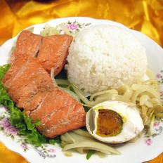 三文鱼圆葱盖饭