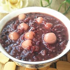 黑米莲子米粥