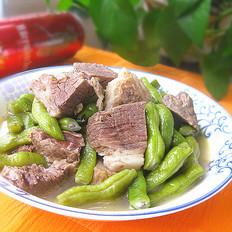 牛肉汤炖芸豆的做法