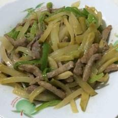 青椒榨菜炒肉丝