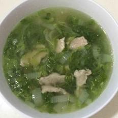 小白菜肉片汤