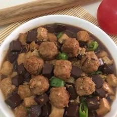 鸭血豆腐烧肉丸