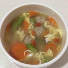 丝瓜鸡蛋肉丸汤