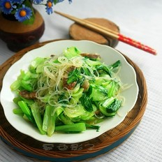 粉丝炒油菜
