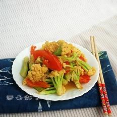 菜花炒西红柿
