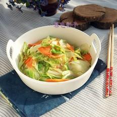 大白菜炒胡萝卜片