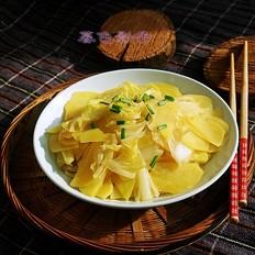 土豆片炒白菜