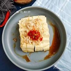 虾皮拌豆腐