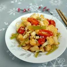 西芹炒菜花