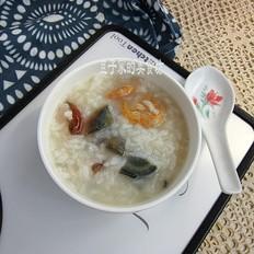虾仁皮蛋大米粥