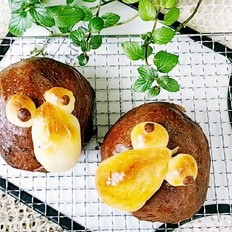 可可粉花式面包