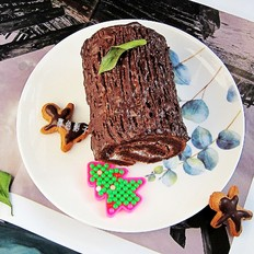 圣诞树桩蛋糕的步骤,详细简单一次就成功