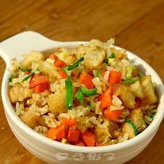 鸡蛋油条炒米饭