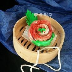 玫瑰豆沙饺子