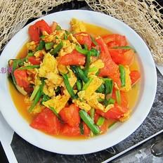 西红柿韭菜炒鸡蛋