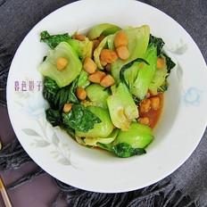 油菜炒扇贝柱