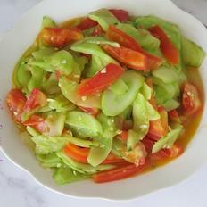 黄瓜炒柿子