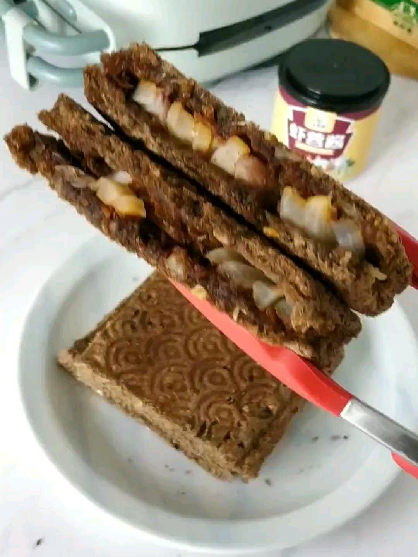 虾蓉酱三明治