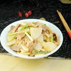 炒肉蘿卜片