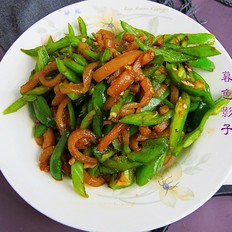 肉皮炒辣椒