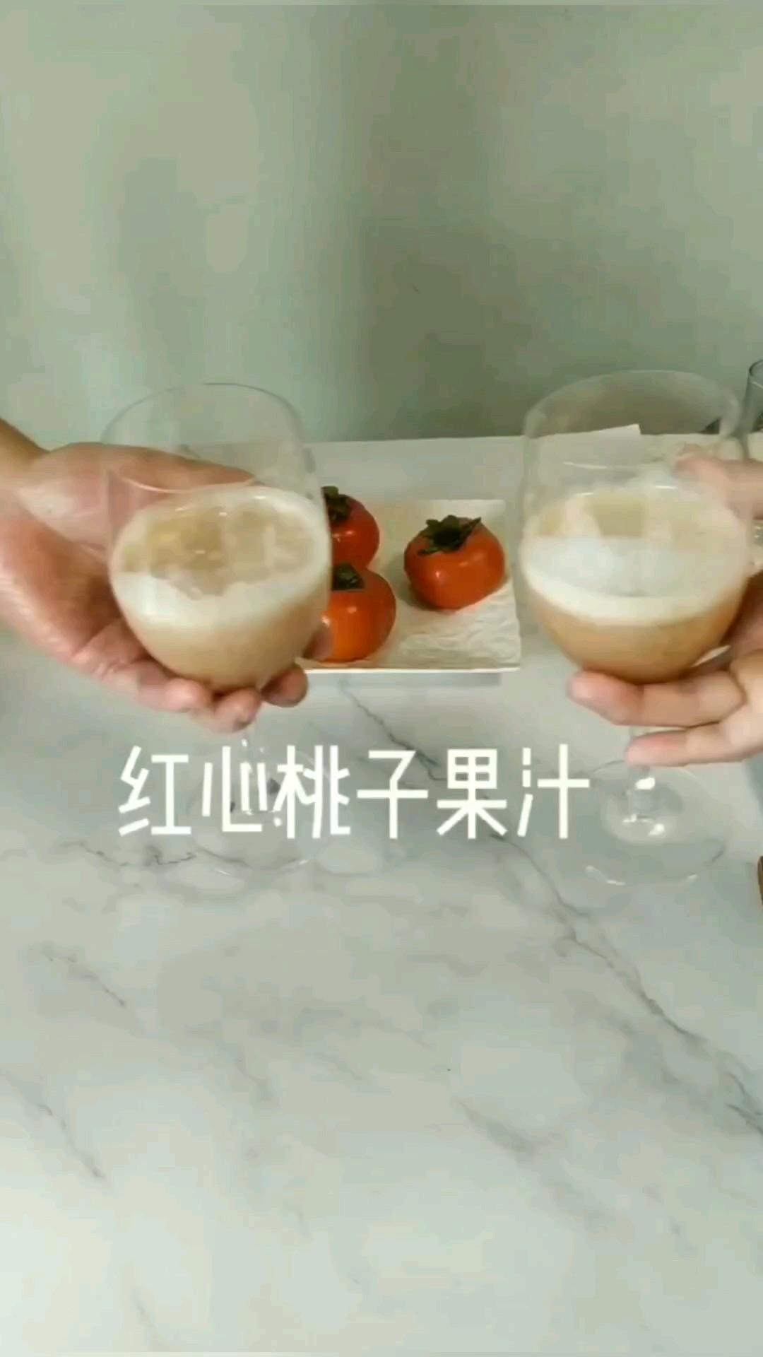 降秋燥,常喝鲜果汁,家乡的秋桃最美味