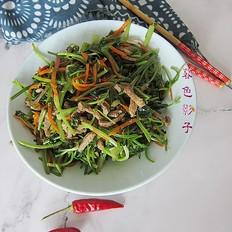 小炒肉丝蔬菜