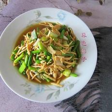 蒜薹炒豆腐丝