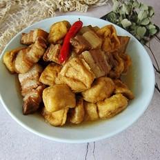 豆腐泡炖肉的做法