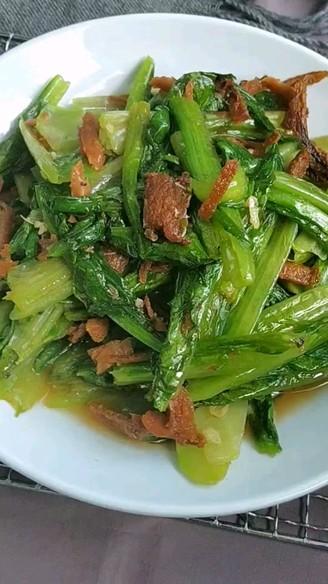 鱼罐头炒油麦菜