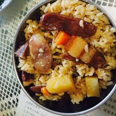 红烧肉焖饭