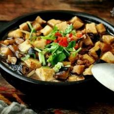 香菇肉末豆腐煲